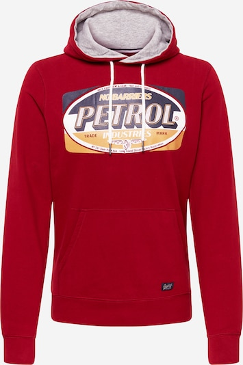 Petrol Industries Sweatshirt in dunkelblau / goldgelb / rot / dunkelrot / weiß, Produktansicht