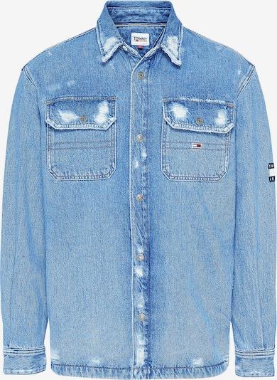 Tommy Jeans Übergangsjacke 'Distressed' in blue denim / schwarz / weiß, Produktansicht