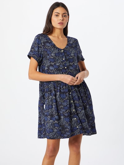 Iriedaily Košilové šaty 'Flowerbirds' - námořnická modř / královská modrá / bílá, Model/ka