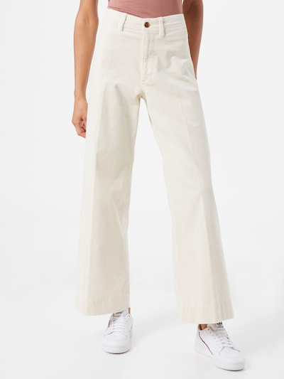 GAP Trousers with creases in off white, View model