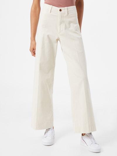 GAP Spodnie w kant w kolorze offwhitem, Podgląd na modelu(-ce)