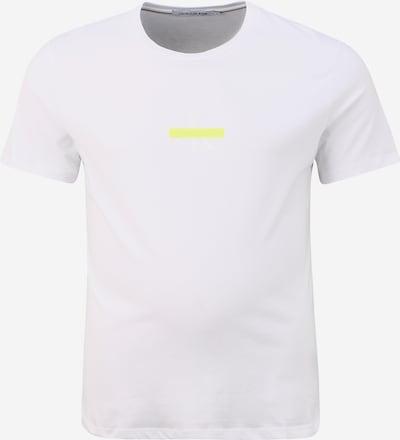 Tricou Calvin Klein Jeans pe galben / alb, Vizualizare produs