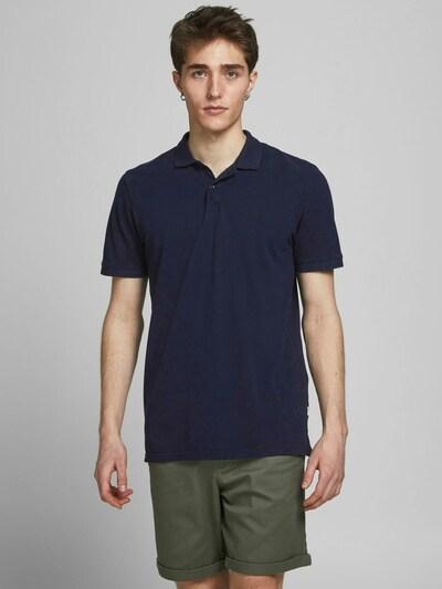 JACK & JONES Poloshirt in dunkelblau / schwarz: Frontalansicht