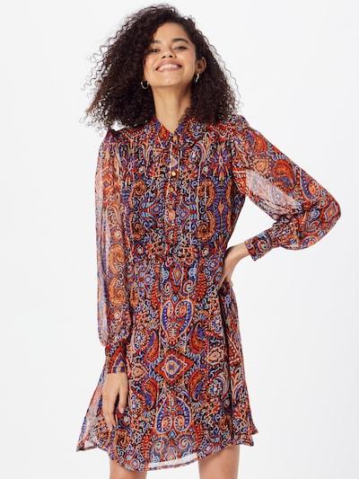 Derhy Kleid 'THOR ROBE' in gold / dunkellila / pfirsich / rot / schwarz, Modelansicht
