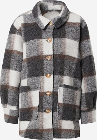 Zwillingsherz Jacke 'Jane' in braun / grau / weiß, Produktansicht