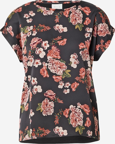 VILA Shirt in de kleur Gemengde kleuren / Zwart, Productweergave