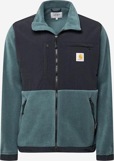 Carhartt WIP Fleece jas 'Nord' in de kleur Groen / Zwart, Productweergave