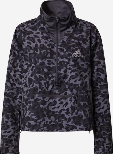 ADIDAS PERFORMANCE Sportska jakna 'Fast' u siva / crna / bijela, Pregled proizvoda