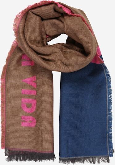 CODELLO Schoudertas 'Art School' in de kleur Hemelsblauw / Karamel / Pink, Productweergave