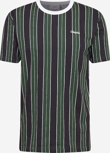 Cleptomanicx T-Shirt 'Soir' en bleu nuit / vert foncé / blanc, Vue avec produit