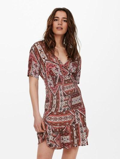 ONLY Kleid 'Adele' in braun / rosa / weinrot / weiß, Modelansicht