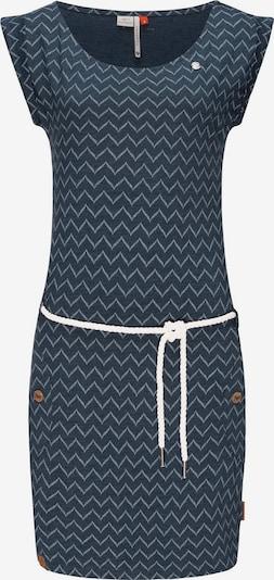 Ragwear Kleid 'Tag Zig Zag' in navy / weiß, Produktansicht