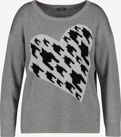SAMOON Pullover Langarm in grau, Produktansicht