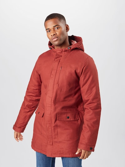 bleed clothing Parka 'Guerilla' in rot: Frontalansicht
