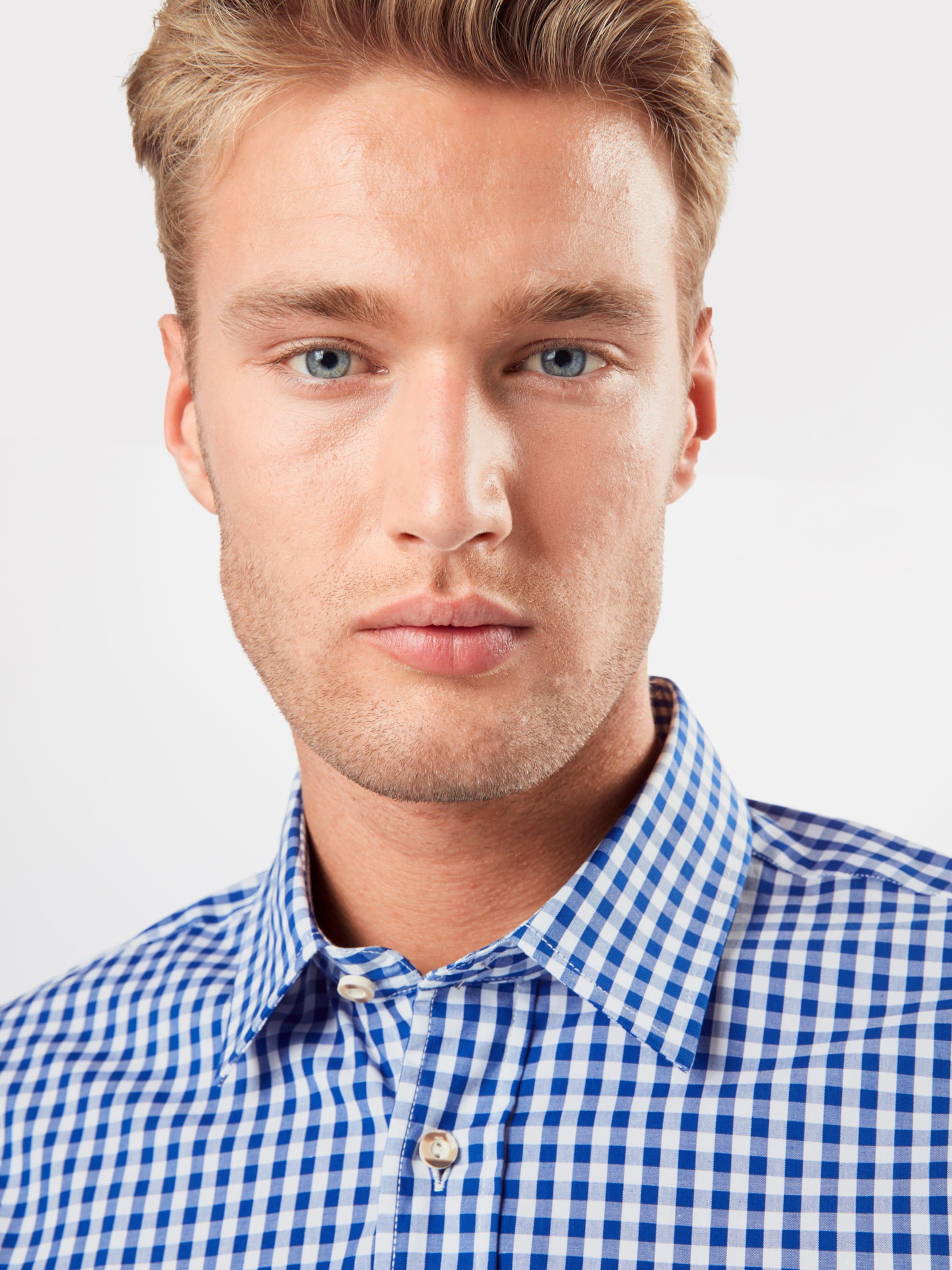 ALMSACH Skjorta i blå / ljusblå / vit