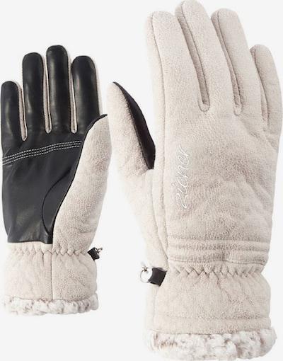 ZIENER Fingerhandschuhe 'Iruka' in beige / schwarz, Produktansicht