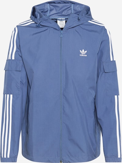 ADIDAS ORIGINALS Prehodna jakna | dimno modra / bela barva, Prikaz izdelka