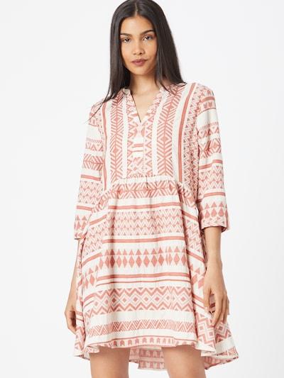 Rochie tip bluză Ci comma casual identity pe roșu ruginiu / alb, Vizualizare model