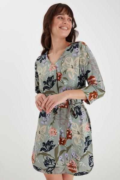 Fransa Freizeitkleid mit floralem Print in grau, Modelansicht