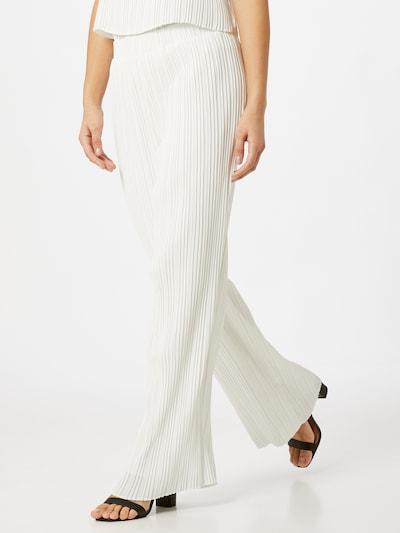Pantaloni 'KELLY' Y.A.S pe alb, Vizualizare model