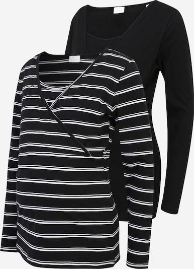 Tricou 'LEA' Mamalicious Curve pe negru / alb, Vizualizare produs