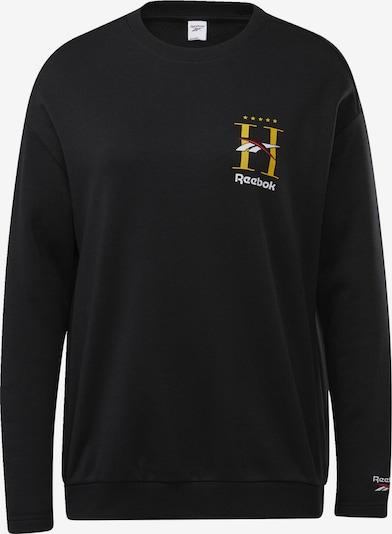 Reebok Classic Sweatshirt in gelb / schwarz / weiß: Frontalansicht