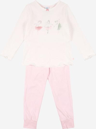 SANETTA Pyjama in rosa / weiß, Produktansicht