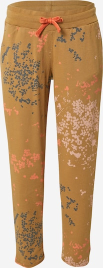 Maloja Pantalon de sport 'Mehlbeeren' en beige foncé / bleu marine / rosé / rose clair, Vue avec produit