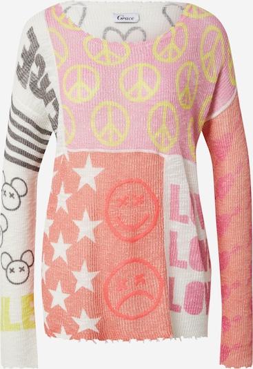 Grace Пуловер 'Peace' в пъстро / червено, Преглед на продукта