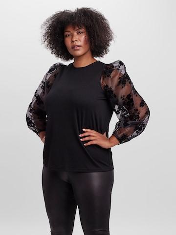 Vero Moda Curve Bluse 'Sadie' in Schwarz