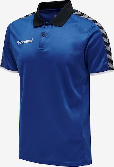 Hummel Poloshirt 'Authentic' in blau / grau / schwarz / weiß, Produktansicht
