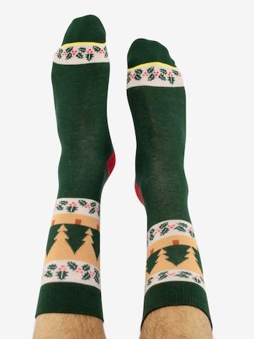 Chaussettes 'Ugly Chtistmas/ Funky Santa' CHEERIO* en mélange de couleurs