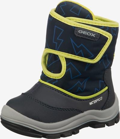 GEOX Kids Winterstiefel 'Flanfil' in blau / grau / neongrün, Produktansicht