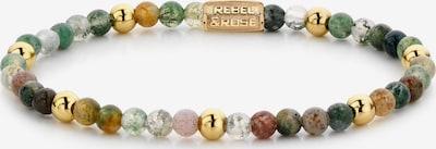 Rebel & Rose Armband in gold / grün, Produktansicht