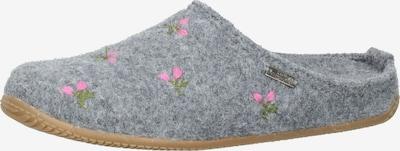 Living Kitzbühel Hausschuh in grau / grün / pink, Produktansicht