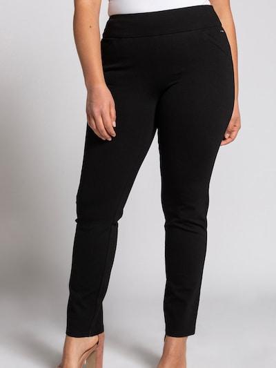 Ulla Popken Kalhoty - černá, Model/ka