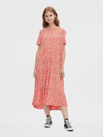 PIECES Kleid 'Rebecca' in rot / weiß, Modelansicht