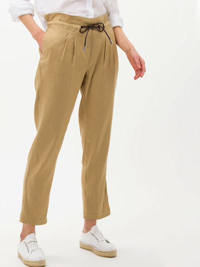 BRAX Pleat-front trousers in Sand, View model
