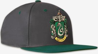 LOGOSHIRT Cap 'Harry Potter – Slytherin' in grau / grün, Produktansicht