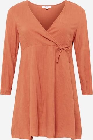 ABOUT YOU Curvy Φόρεμα 'Sarina' σε πορτοκαλί