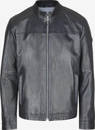 bugatti Lederjacke mit Stehkragen und Reißverschluss in dunkelblau, Produktansicht