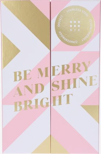 Six Schmuckset 'Adventskalender ' in rosa / weiß, Produktansicht
