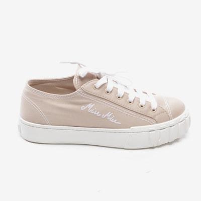 Miu Miu Turnschuhe / Sneaker in 38,5 in beige, Produktansicht