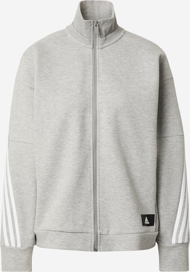 ADIDAS PERFORMANCE Sports sweat jacket in mottled grey / Black / White, Item view