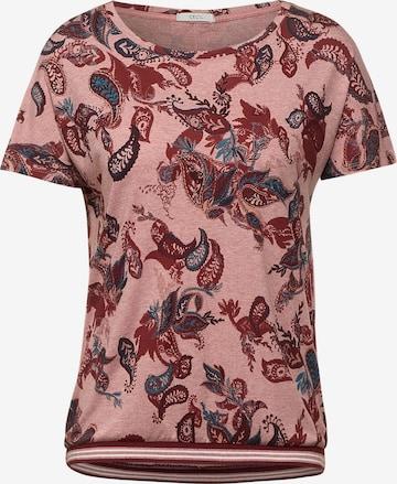 CECIL T-Shirt in Melange Optik in Rot