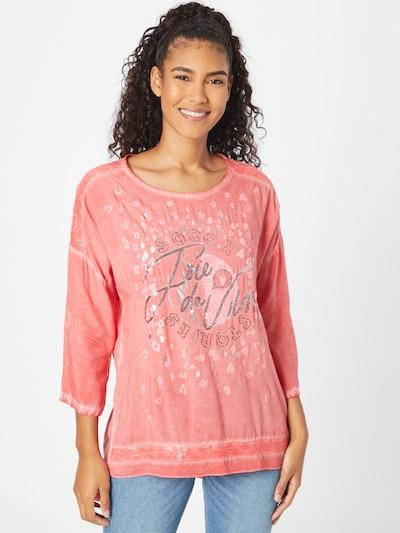 Soccx Bluse 'Oh La La Paris' in rosa / pastellrot / schwarz / silber, Modelansicht