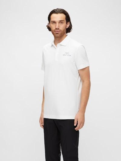 J.Lindeberg Poloshirt in weiß: Frontalansicht