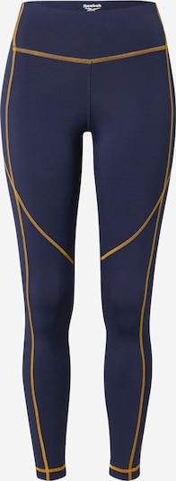 Reebok Sport Sporthose in nachtblau / gelb, Produktansicht