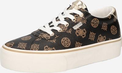 Sneaker low 'SANAM' GUESS pe bej / maro închis, Vizualizare produs