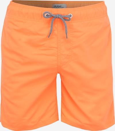 BLEND Shorts de bain en orange clair / blanc, Vue avec produit